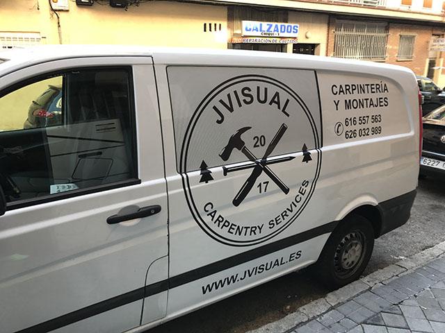 Rotulación vehículos - furgoneta mediana madrid