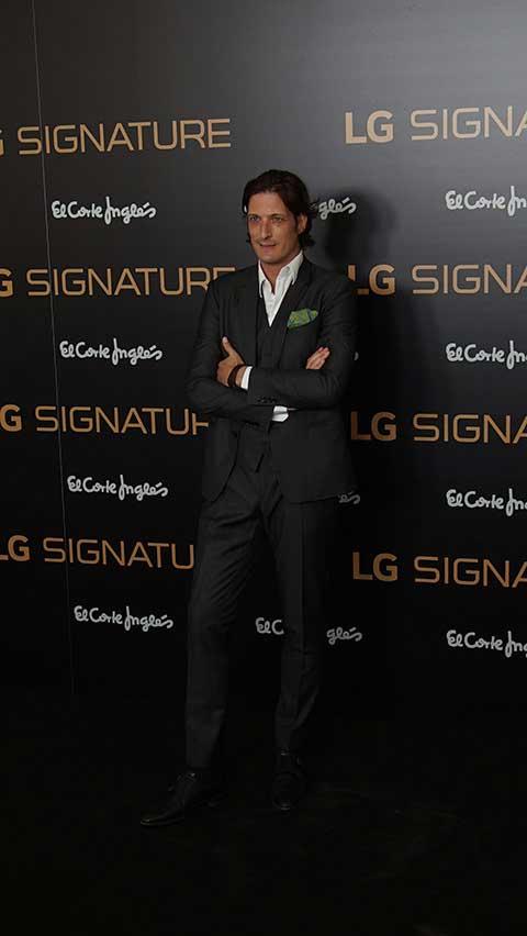 Rotulo en photocall de evento LG Signature Madrid