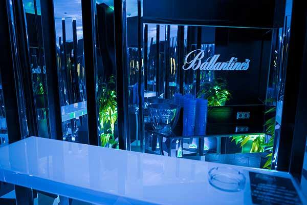 Rotulos corporeos letras evento Ballatines Boilerroom Madrid