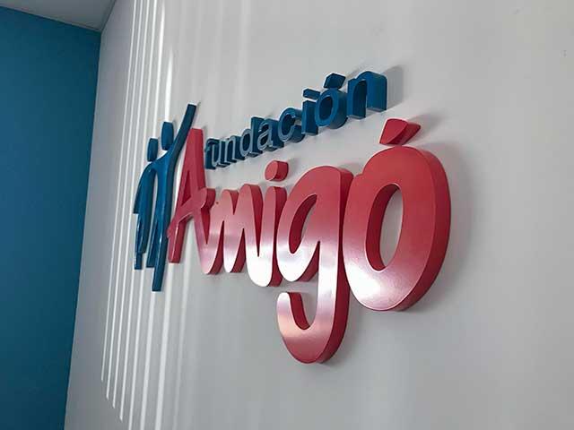 Ejemplo de Letras Corporeas en PVC para Interiores en Madrid